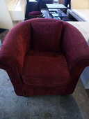 Fauteuil tissu rouge 60 Toulouse (31)
