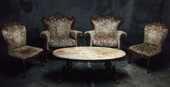 Fauteuils anciens avec table basse en marbre 300 Marseille 5 (13)