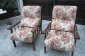 lot de 2 fauteuils armature bois velours 120 Amélie-les-Bains-Palalda (66)