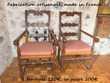 2 fauteuils bois tourné artisan ardéchois + galettes par tap
