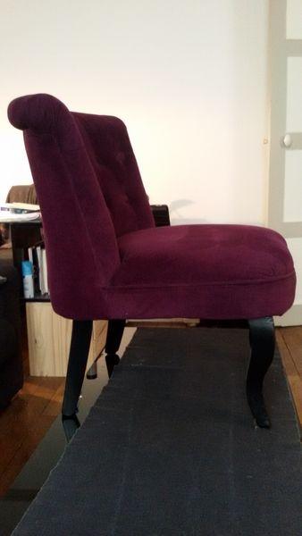 perfect achetez lot de fauteuils quasi neuf annonce vente clichy wb with fauteuil crapaud prune. Black Bedroom Furniture Sets. Home Design Ideas