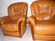 2 fauteuils cuir KARA GOLD Meubles