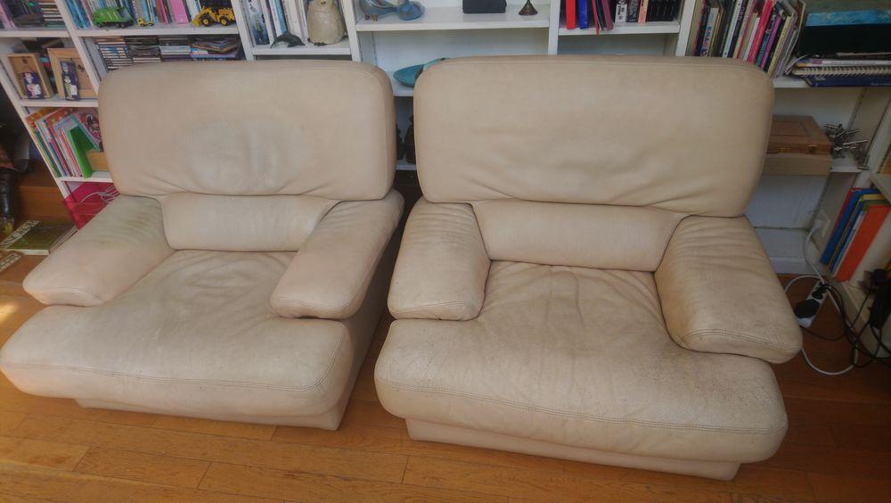 Lot de 2 fauteuils cuir 0 Paris 3 (75)