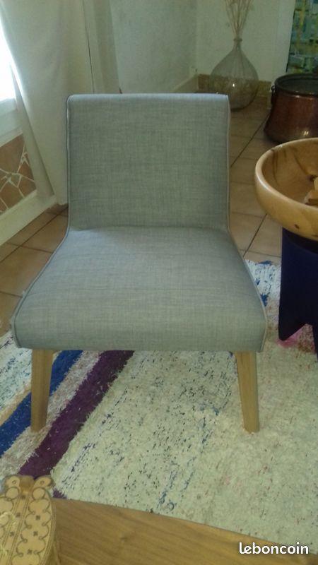 2 fauteuils neufs design gris clair 250 Perpignan (66)