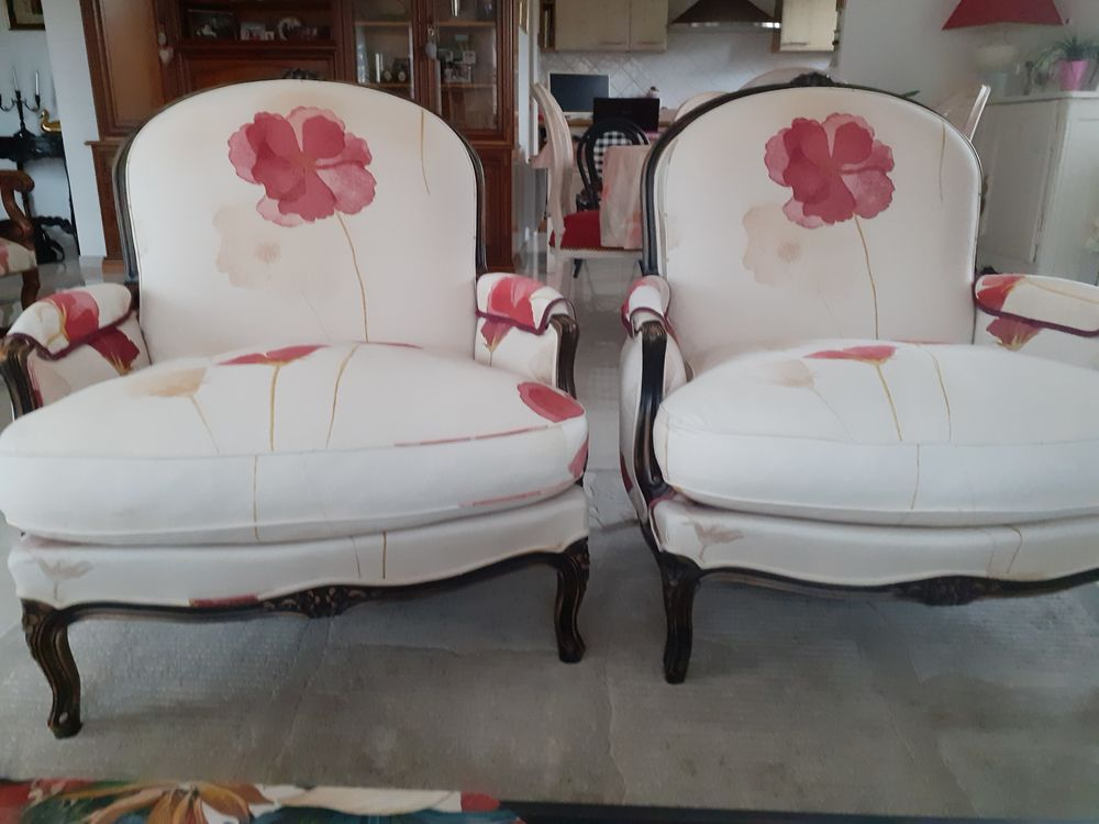 2 fauteuils style marquise Meubles