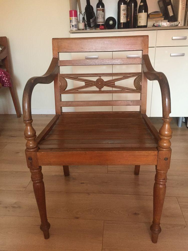 2 fauteuils en teck pour jardin 50 Pierreval (76)