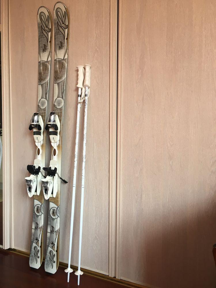 Ski femme Marque K2 Supersmooth 160 cm avec bâtons. 60 Versailles (78)