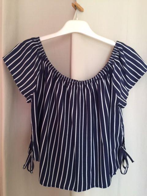 Top Femme H&M Taille 38 (M) rayé bleu et blanc Vêtements