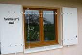 3 fenêtres en bois éxotique  150 Saint-Étienne-du-Bois (01)