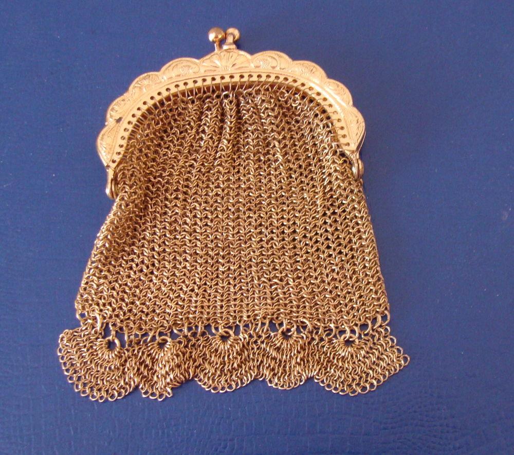 Fêtes : Minaudière en métal maille doré 20 Antony (92)