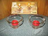 Fêtes : 2 Photophores en verre+2 Bougies - NEUF 8 Antony (92)