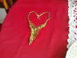 LM feuille  collier ancien dorée or fin N° 614 Bragny-sur-Saône (71)