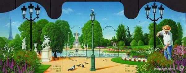 Feuillet N° 70 -- Jardins de France. 5 La Seyne-sur-Mer (83)