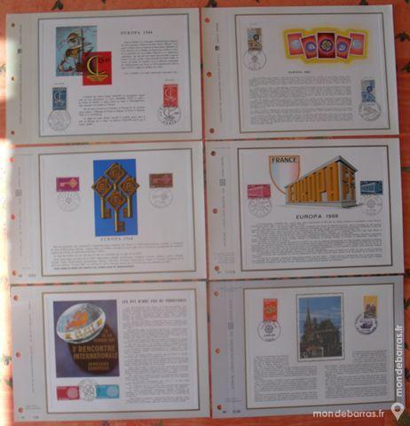 17 Feuillets Philatéliques CEF thème EUROPA 50 Montreuil (93)