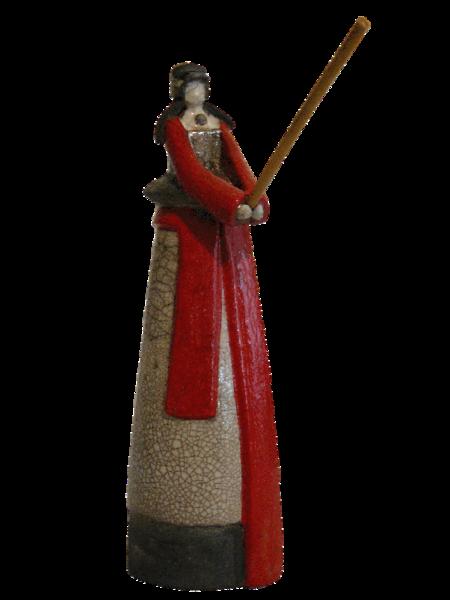 Figurine samourai en Raku 130 Cleuville (76)