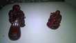 2 Figurines de Bouddha Violet en Onyx Excellent etat 1/ 9