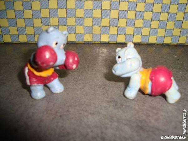 Figurines Hypopotames de ferrero 1991 2 La Verdière (83)