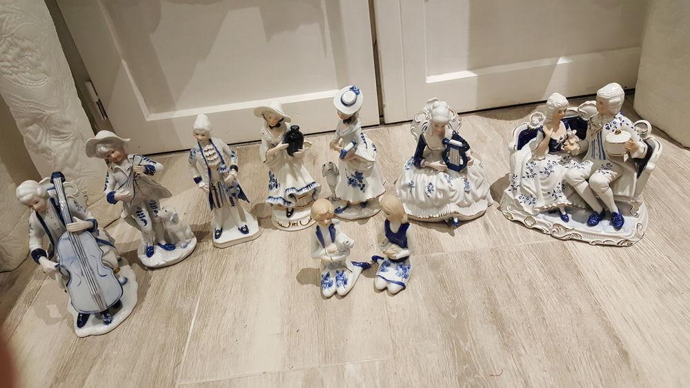 Figurines porcelaine marquise et ses sujets de belle qualité 120 Grigny (91)
