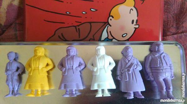 Figurines Tintin Esso Monochrome 6 Lys-lez-Lannoy (59)