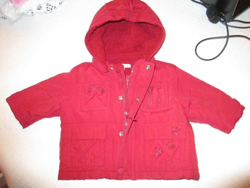 Fille manteau 3 mois rouge polaire 5 Alfortville (94)