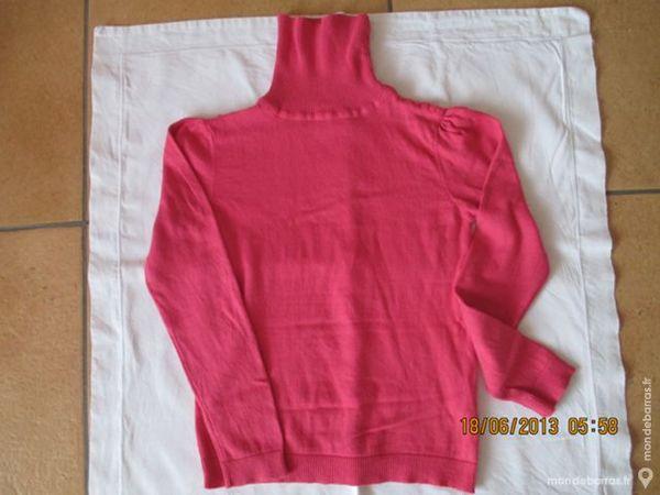 Fille 10 A pull rose fuschia NKY 5 Alfortville (94)