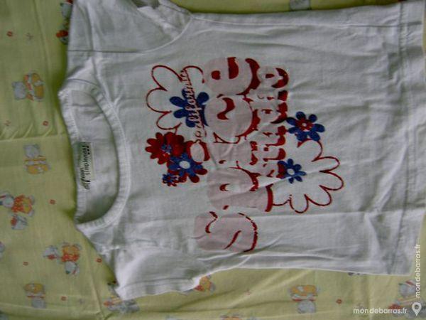 fille 3 A tee shirt blanc fleurs 1 Limeil-Brévannes (94)