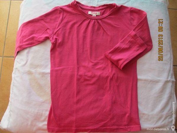 Fille 8 A tee-shirt Shiny fuschia 1 Alfortville (94)