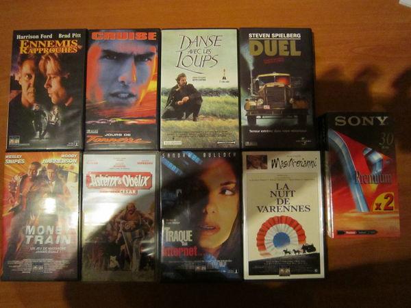 LOT DE 8 FILMS CASSETTES VHS VIDEOS (Originaux) 20 Strasbourg (67)