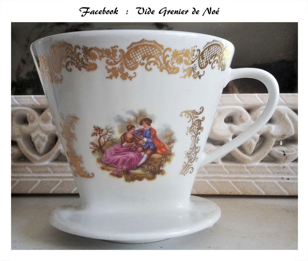 Pot filtre à café en porcelaine  12 Lomme (59)