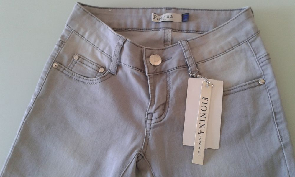FIONINA Pantalon Gris Revers Léopard T34 NEUF 10 Nice (06)