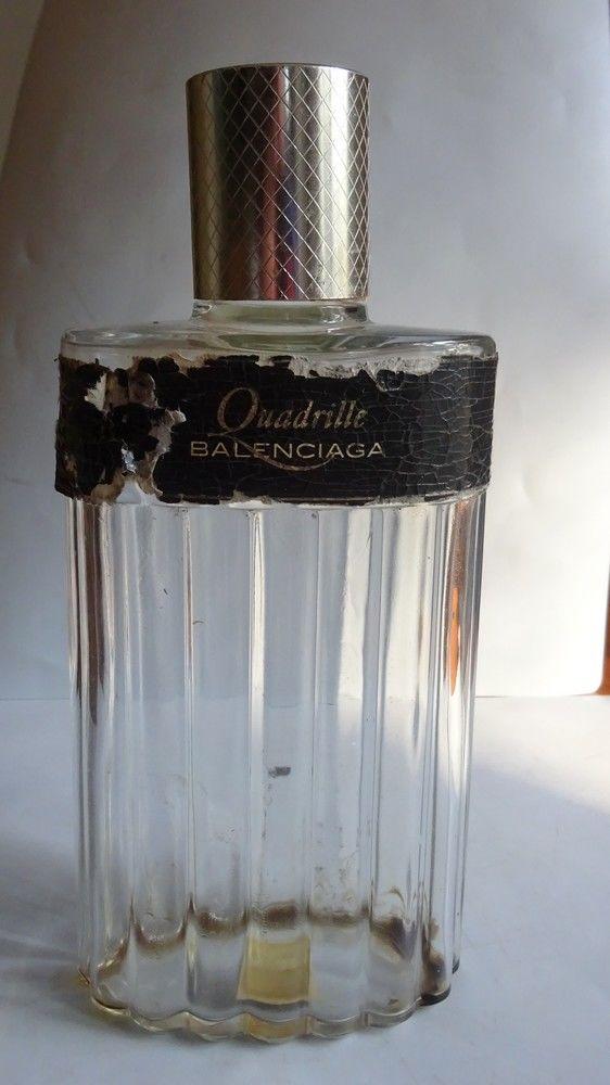 FLACON ANCIEN VIDE   QUADRILLE   de BALENCIAGA 20 Mondragon (84)