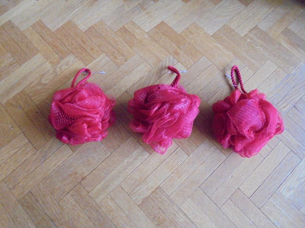 Fleurs de bain rouges (25) Décoration