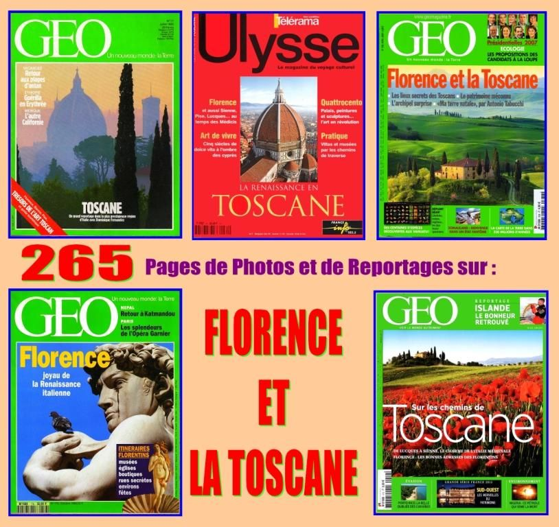 FLORENCE ET LA TOSCANE - géo - ITALIE 18 Lille (59)