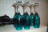 6 flûtes de champagne colorés 6 La Celle-Saint-Cloud (78)