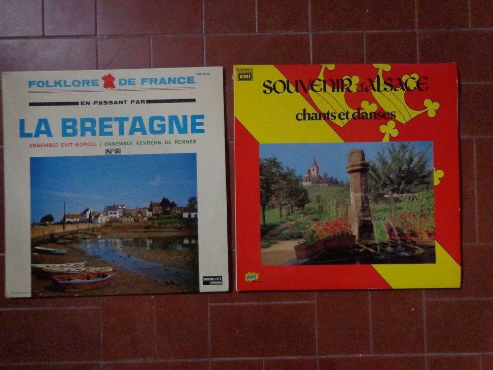 FOLKLORE : BRETAGNE et ALSACE, 2 vinyles 33 tours 3 Éragny (95)