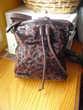 sac forme sceau imprimé léopard marron NEUF bandoulière Maroquinerie