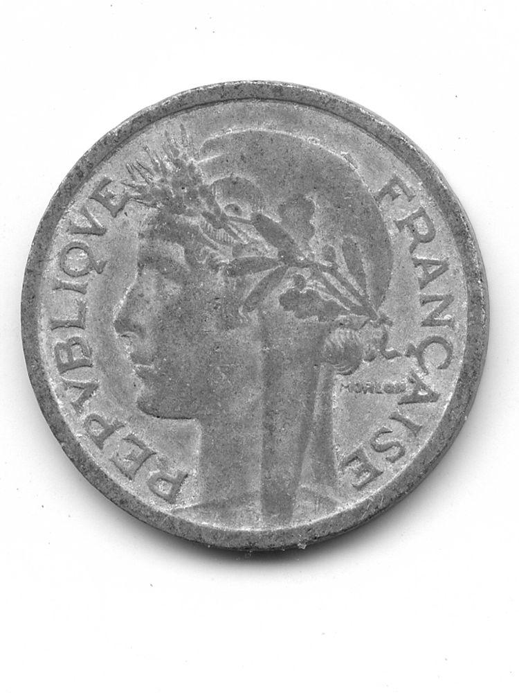 1-franc-MORLON-1957-Frappe-B-Aluminium 2 Nîmes (30)