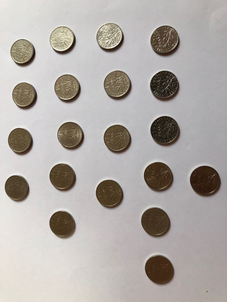 1/2 franc Semeuse (20 pièces) 5 L'Haÿ-les-Roses (94)