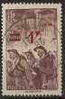 France 1941 n° 489 oblitéré Mineurs surchargé 1f sur 2f15c