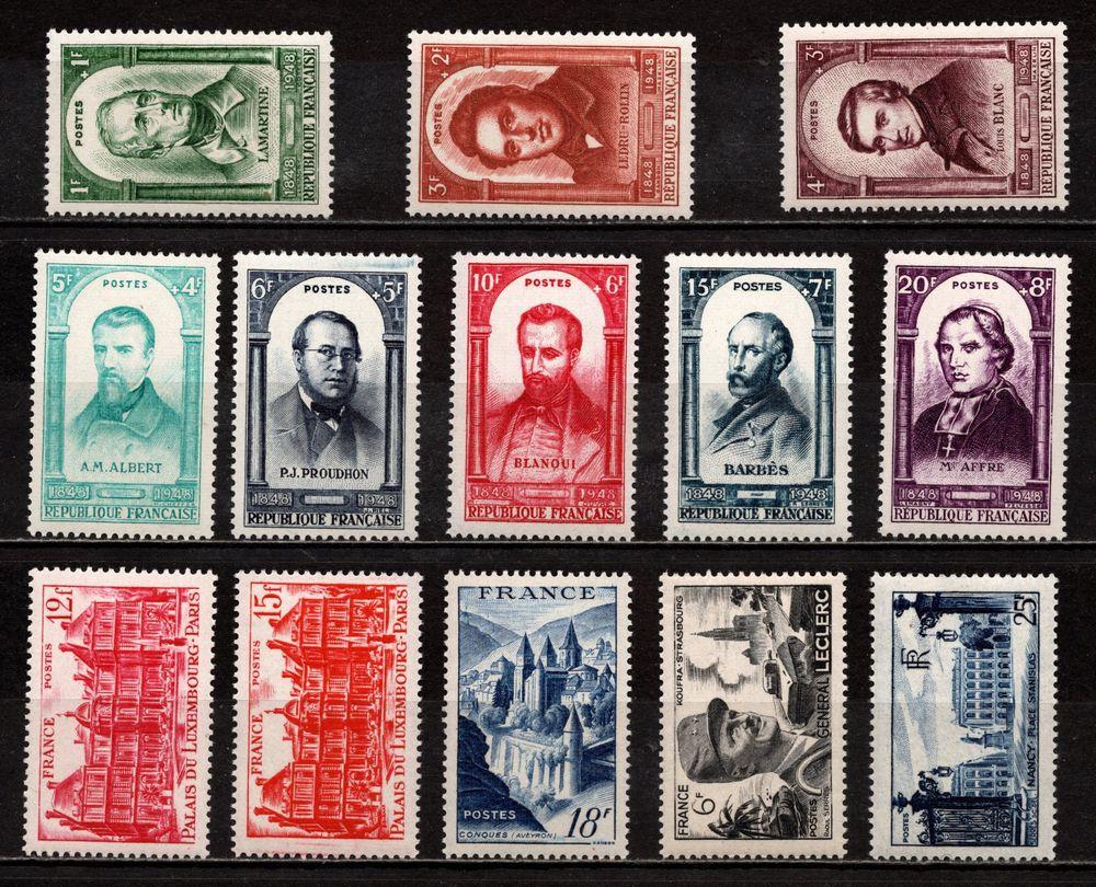 Lot France de 1948**, n°795/02, 803, 804, 805, 815, 822, Sup
