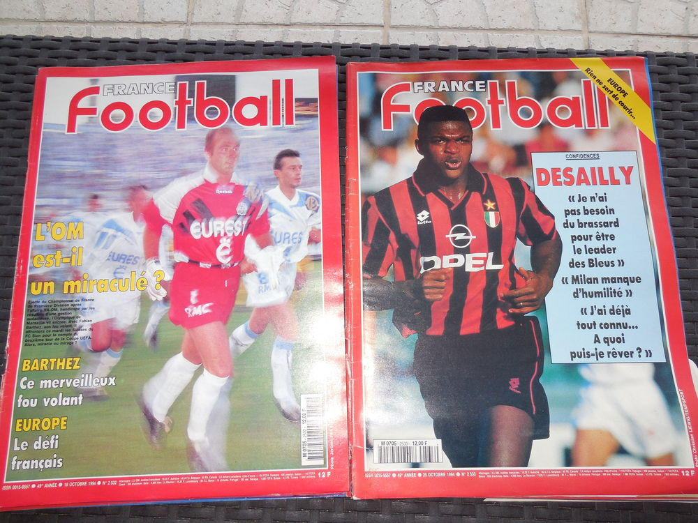 FRANCE FOOTBALL année 1994 (Livres Revues) 0,30€ Sports