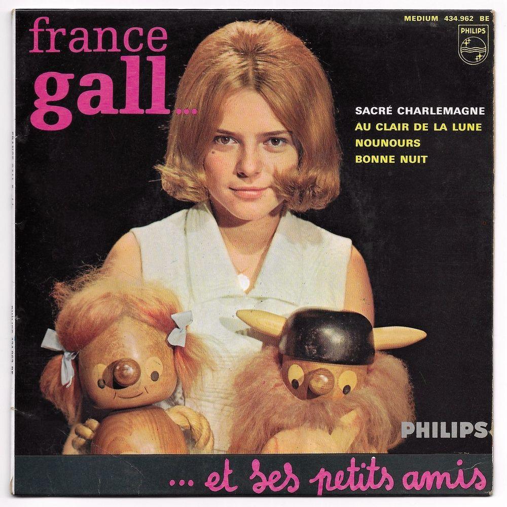 FRANCE GALL - 45t EP 5è SERIE - SACRÉ CHARLEMAGNE -BIEM 1964 3 Tourcoing (59)