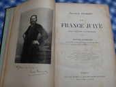 LA FRANCE  JUIVE   - Livre  rare  pour  Collectionneur 125 Roclincourt (62)