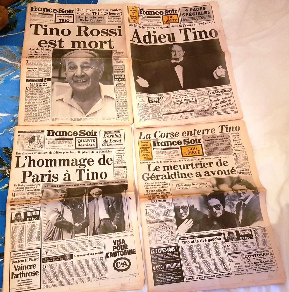 4 France-Soir  Mort de Tino Rossi  50 Saint-Mandé (94)