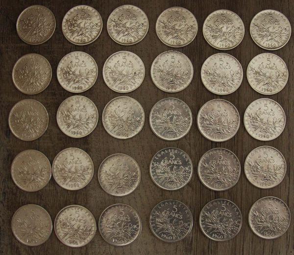 5 Francs argent Semeuse 6 Souffelweyersheim (67)