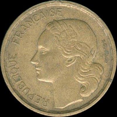 20 francs G. Guiraud 1950B 55 Couzeix (87)