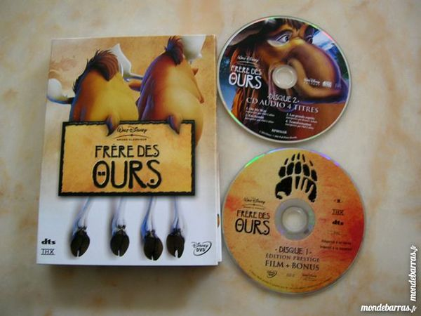 DVD FRERE DES OURS Collector 2 DVD + 1 CD  - N°73 11 Nantes (44)