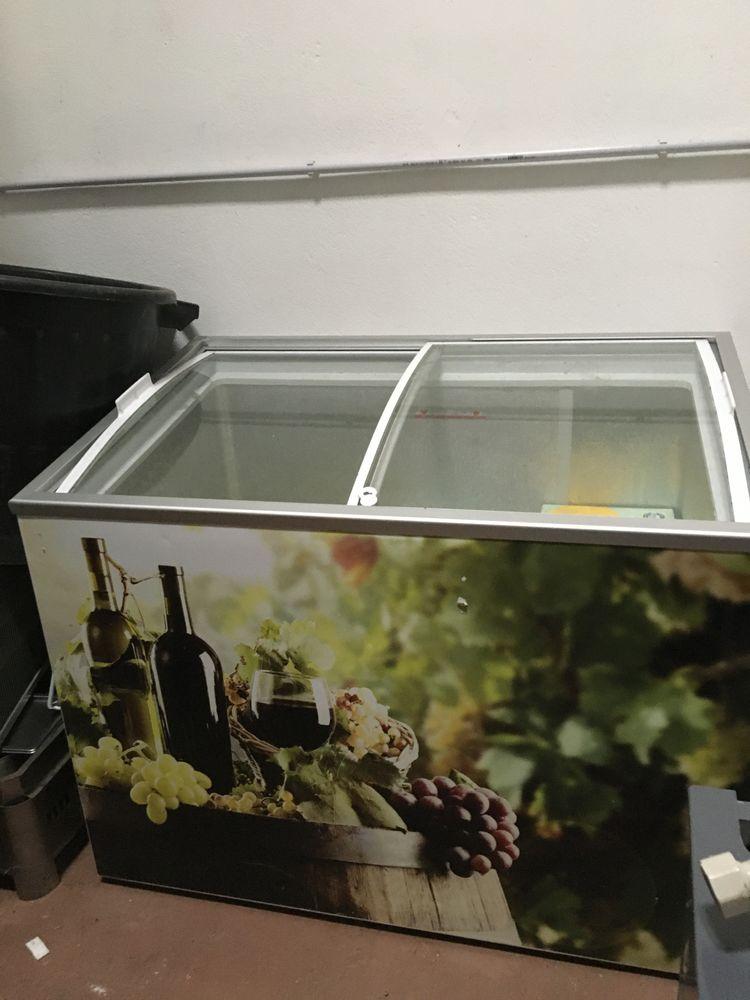 frigo positif avec deux vitrines coulissantes Electroménager