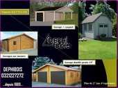 GARAGE BOIS SUR MESURE toit plat ou 2 pentes  de 15M² à 100M² pentes de toit de4° à 40% 6590 Lille (59)