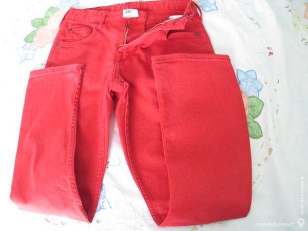 Garçon pantalon rouge H&M 8 A slim 10 Alfortville (94)